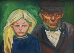 Edvard Munch, Alter Fischer mit Tochter (Old Fisherman with daughter) by HEN-Magonza