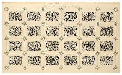 014-Alphabet-Album collection de soixante feuilles d'alphabets historiés 1843- Joseph-Balthazar Silvestre