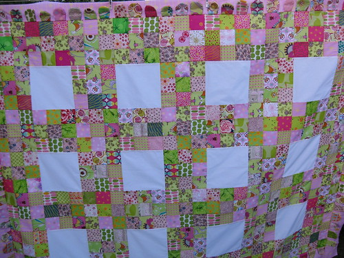 Pink and green quilt by Linseed2010