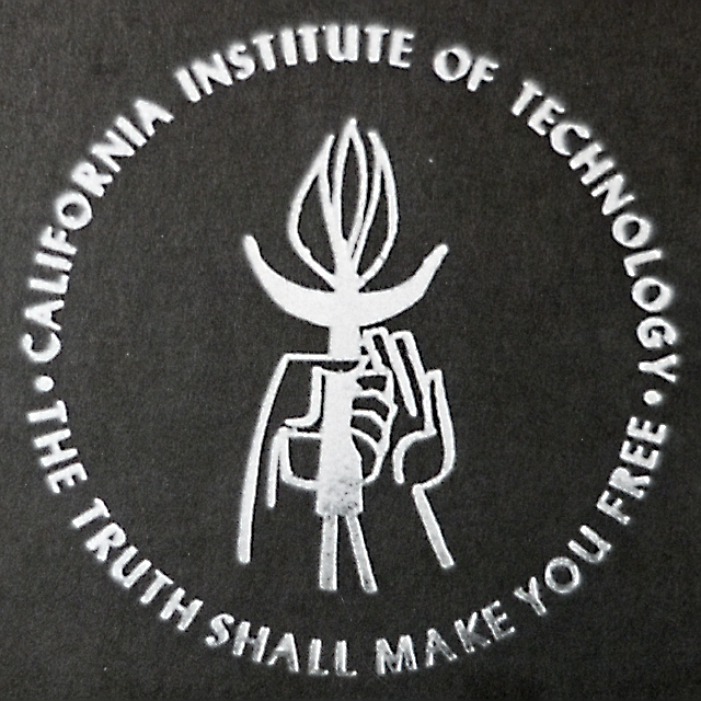 "Old Caltech logo ""The Truth Shall Set You Free"""