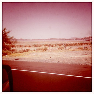 road to vegas from LA-desert