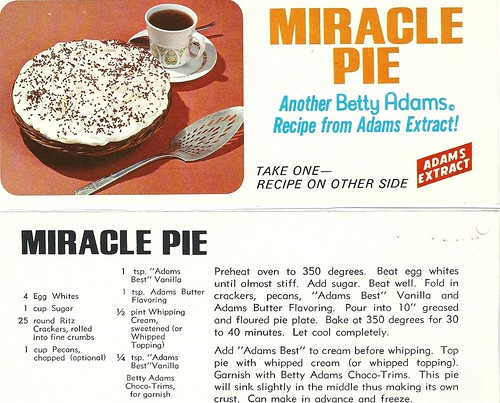 Classic Adams Miricle Pie