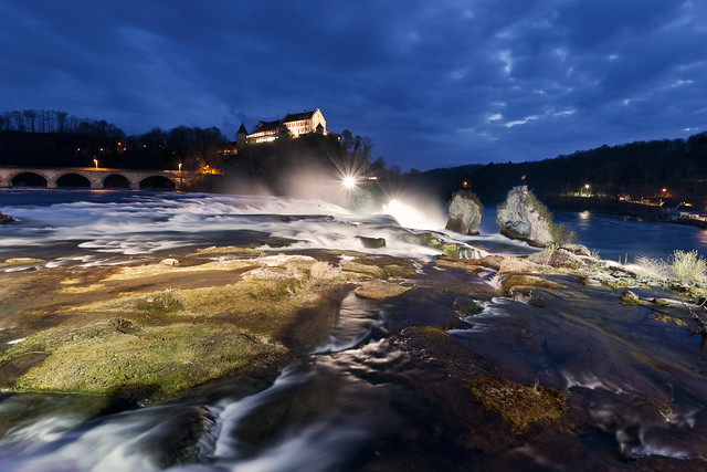 Rheinfall Blue Hour