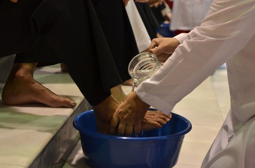 Washing of foot