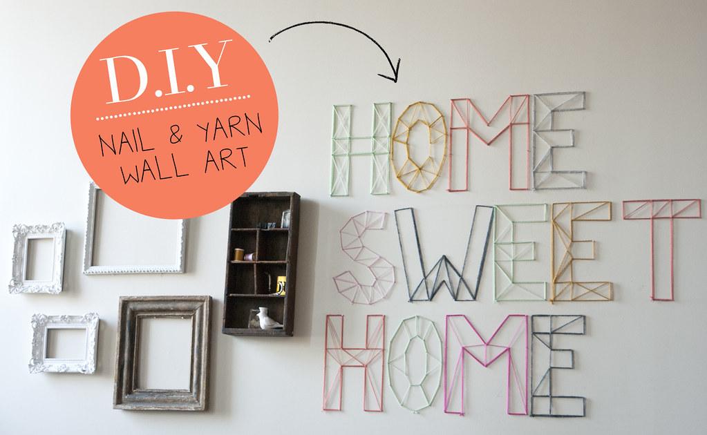 Yarn Wall Art diy | nail and yarn wall art « jen loves kev