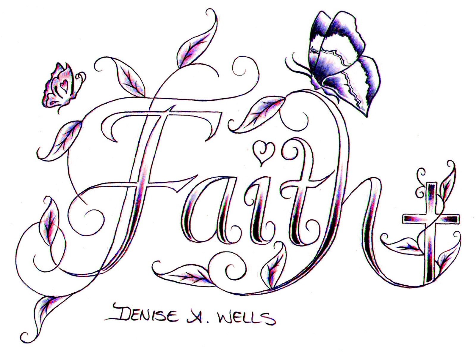 Coloring Pages of the word hope