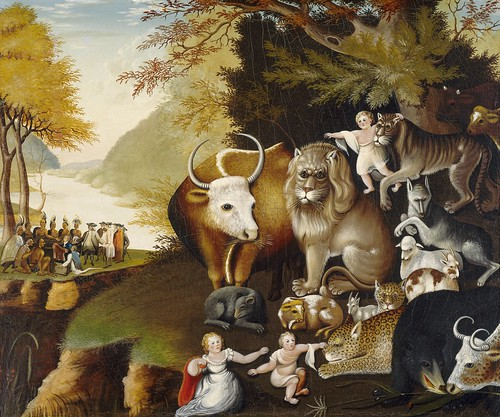 Edward Hicks - Peaceable Kingdom [c.1834] by Gandalf's Gallery