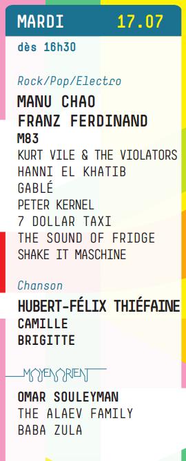 Programme Paleo 2012