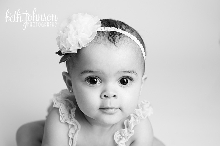 tallahassee florida black and white baby photography studio