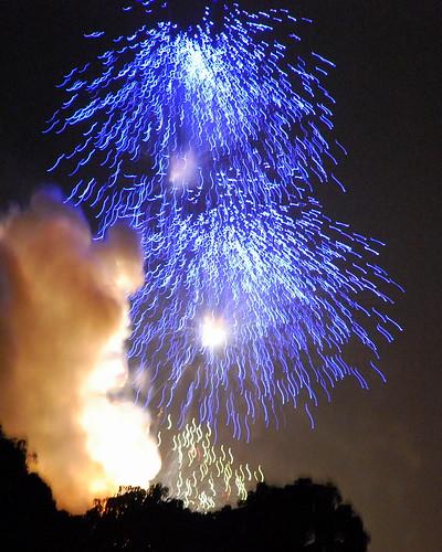 Fireworks display, Thrissur Pooram, Kerala, India.