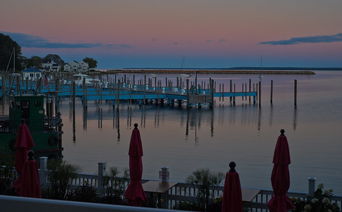 Pier in Pink and Blue