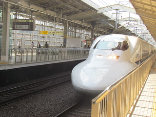 Bullet train at Kyoto Station