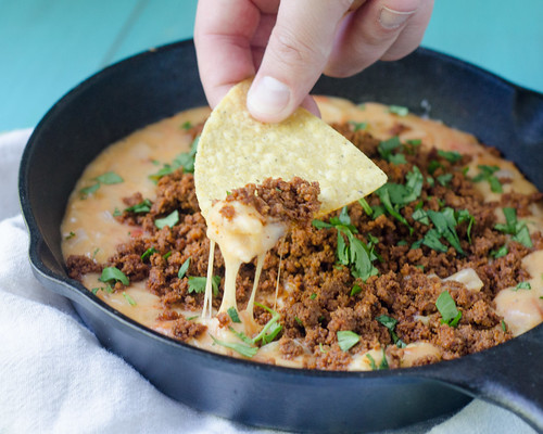 Pink Parsley: Tequila-Infused Chorizo Queso Fundido