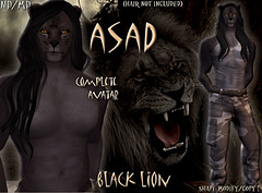 Asad black LION avatar