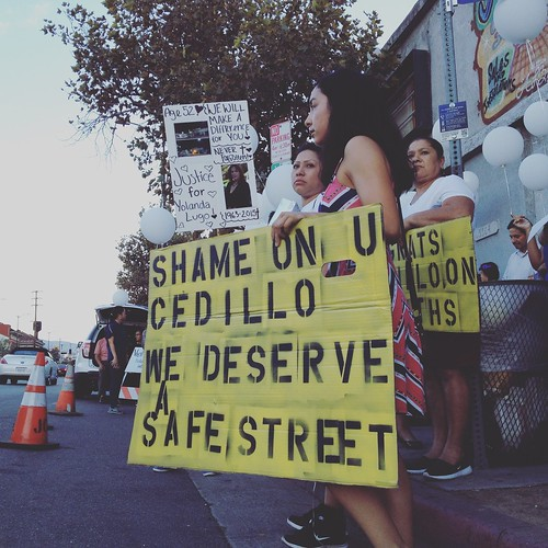 Vigil and Protest of conditions on North Figueroa on Septmber 25, 2016