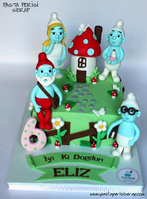 SUMURFS CAKE- ELİZ BIRTHDAY CAKE