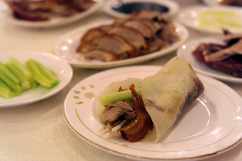 Duck rolled in one of Xiang Man Lou's terrific pancakes
