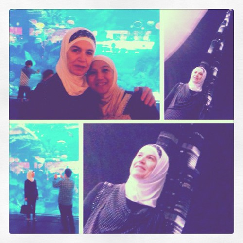 MIL's first time in Dubai Aquarium and to see the beauty of Burj Al Khalifa.