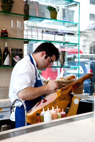 Shaving the Jamón Ibérico