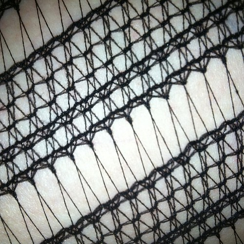 My tights have an intricate #weave pattern