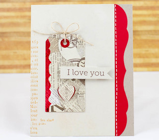 Love You Card with Tag
