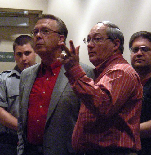 Jerry Prevo (left) and Glenn Clary, after AO-64 passed