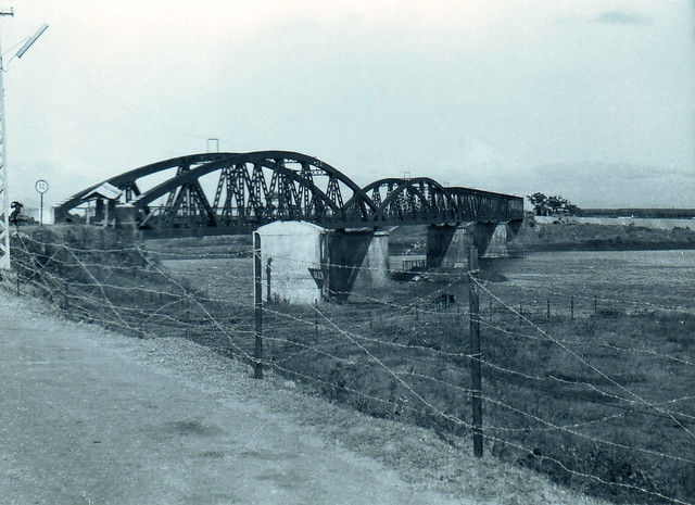 Bridge over the Thach Han River, Highway 1 looking toward Dong Ha February 1968