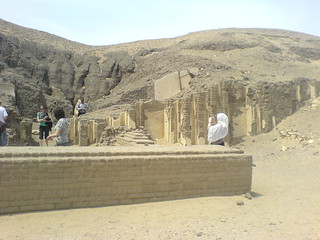 GHPP team around a mastaba at Meidum