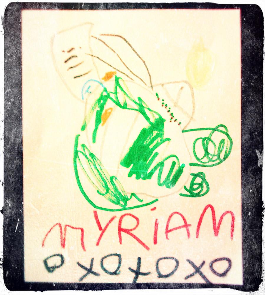 Dessin du stade olympique de Myriam