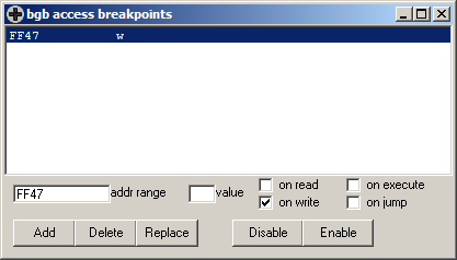 BGB create breakpoint