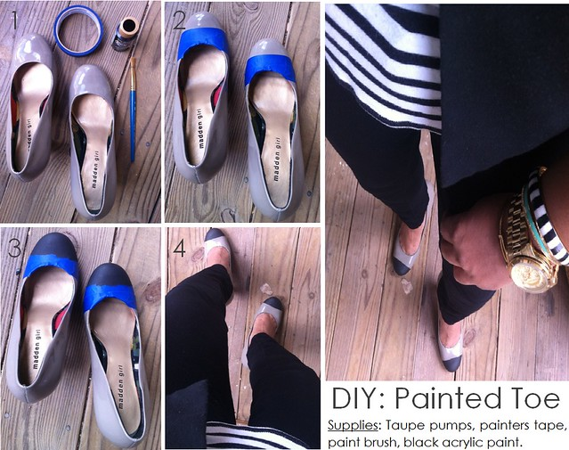 DIY Painted Toe Pump