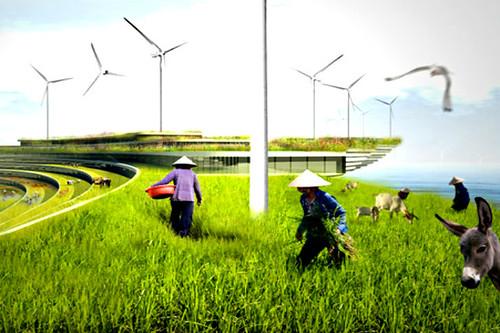 Энергия солнца, ветра и океана поможет городу вырабатывать электричество