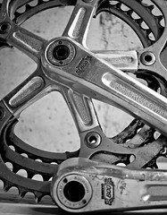 vehicle, groupset, crankset, black-and-white,