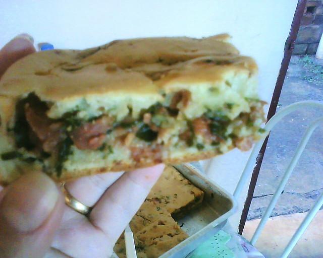 Torta de linguiça e couve - Foto de Bruna Graciele