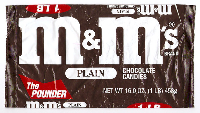 Older Mars Chocolate M&M's Pounder Candy Bag