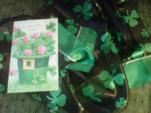 Card and St. Patrick's Day Scarf by northwoodsluna