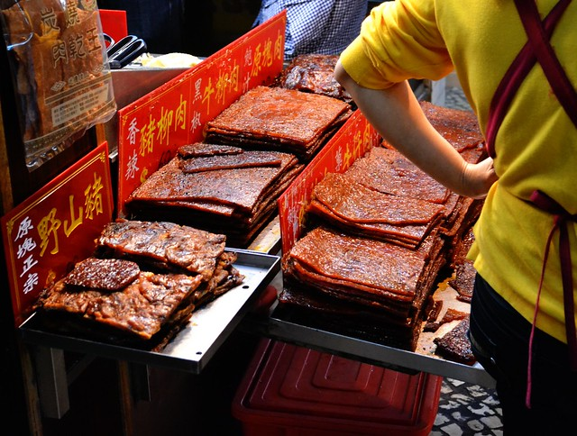 Bakkwa on display, Macau