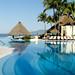 Pool, bar and palm trees by morozgrafix