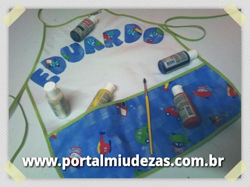 Avental de Arte by MIUDEZAS by miudezas_miudezas