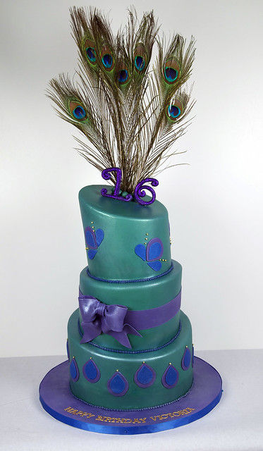 peacock birthday cake images