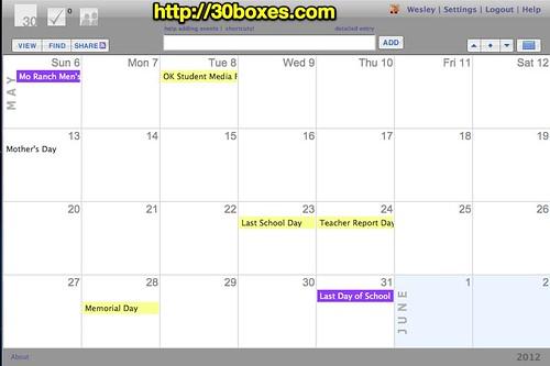 30 Boxes Calendar