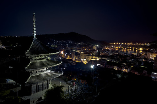 city japan night landscape pagoda nikon view nightscape 日本 夜景 onomichi 尾道 d700