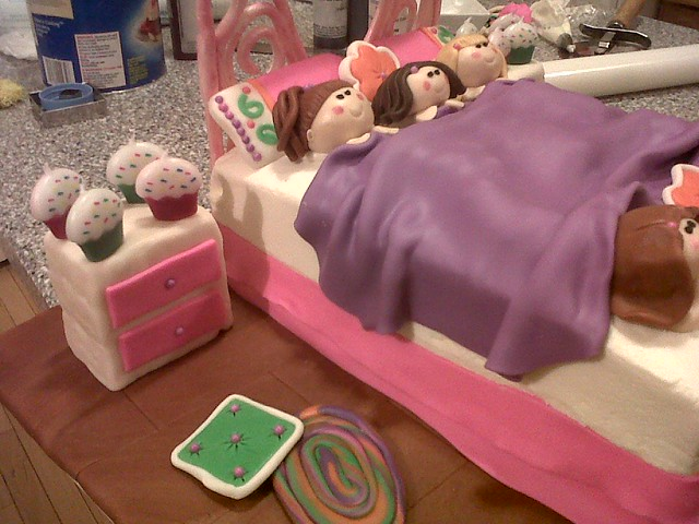 Birthday Cakes For Slumber Party