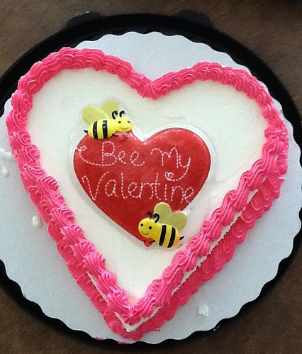 Valentines Day ice cream cake