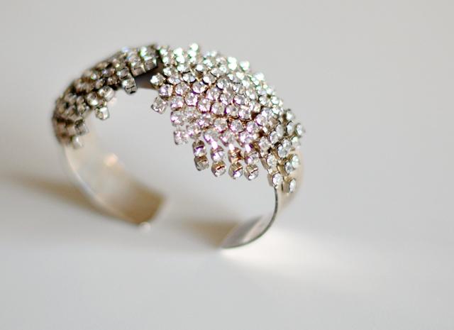vintage rhinestone bracelet cuff diy