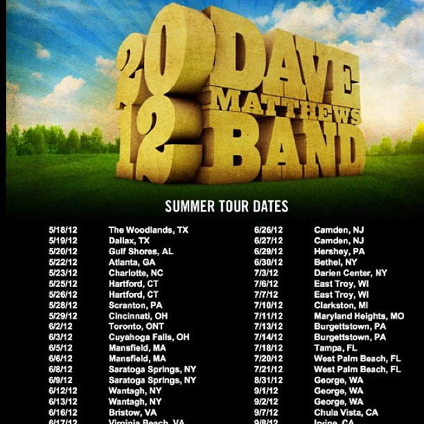 Dave Matthews Band tickets - Dave Matthews Band tour dates on StubHub!