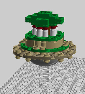 Mini-Scale Lego Laputa: Castle in the Sky (LDD)