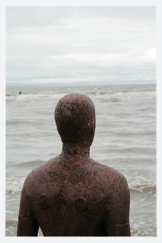 Iron Man from Crosby Beach