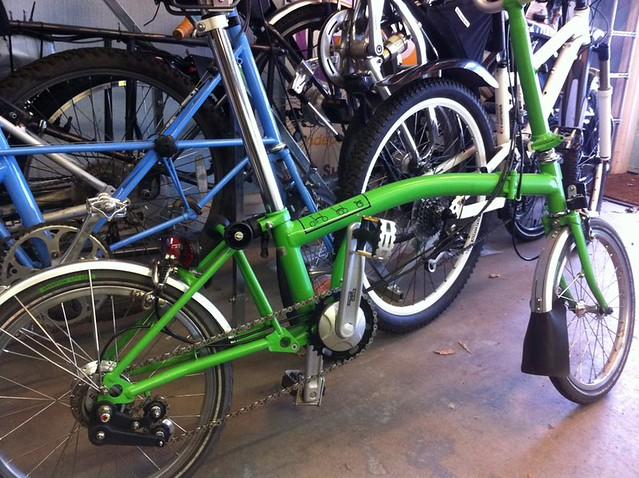 8-speed Brompton in green