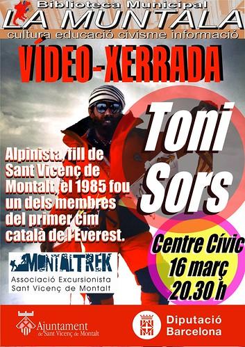 Vídeo-xerrada: Toni Sors @ Centre Cívic 16 març 20.30 h by bibliotecalamuntala